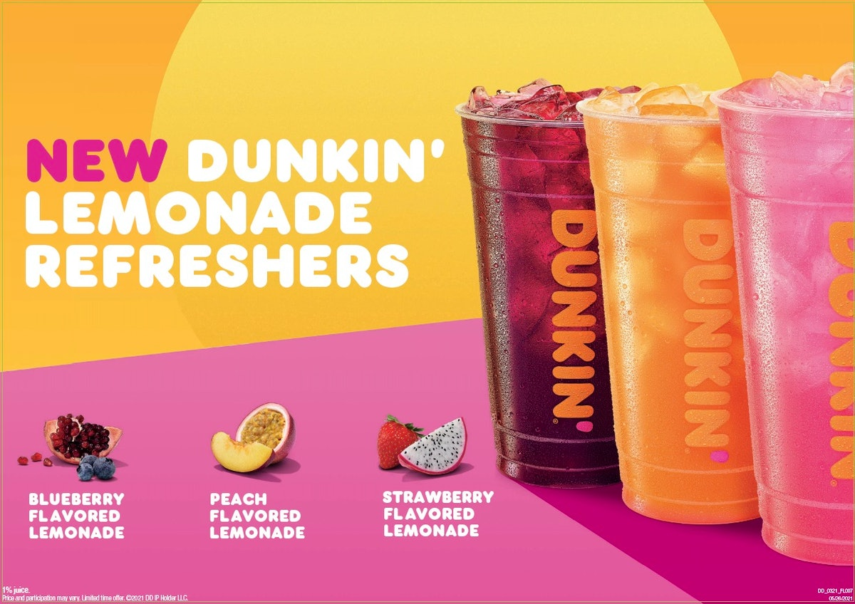 Dunkin's summer 2021 menu has such fruity options.