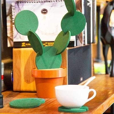 Sirensky Cactus Coaster Set (6-Pack)