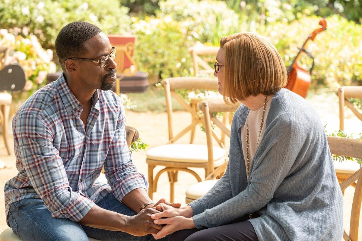 Sterling K. Brown as Randall, Mandy Moore as Rebecca in 'This Is Us'