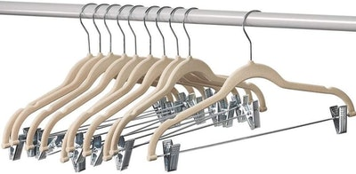 Home-it Clothes Hangers With Clips (10-Pack)