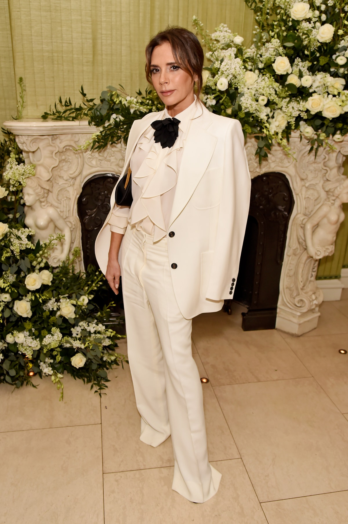Victoria Beckham attends the British Vogue and Tiffany & Co. Fashion and Film Party at Annabel's on ...
