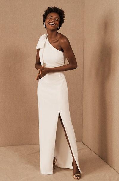 ML Monique Lhuillier Lionel One-Shoulder Dress