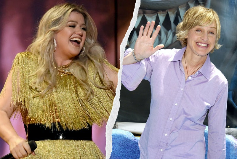 Kelly Clarkson and Ellen DeGeneres.