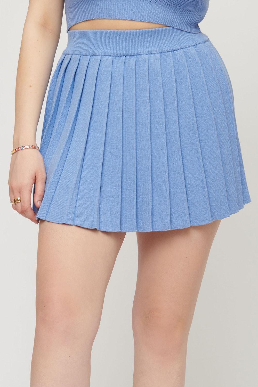 Pleated Yarn Tennis Skirt