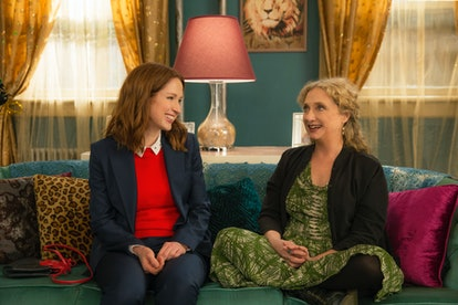 Ellie Kemper and Carol Kane in Unbreakable Kimmy Schmidt, one of  many shows on Netflix to boost your confidence.