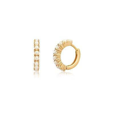 Pearl Huggie Earrings