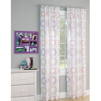 Your Zone Circle Dot Kids Bedroom Single Curtain Panel