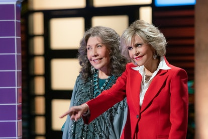 Lily Tomlin and Jane Fonda in Grace and Frankie, one of many shows on Netflix to boost your confidence.