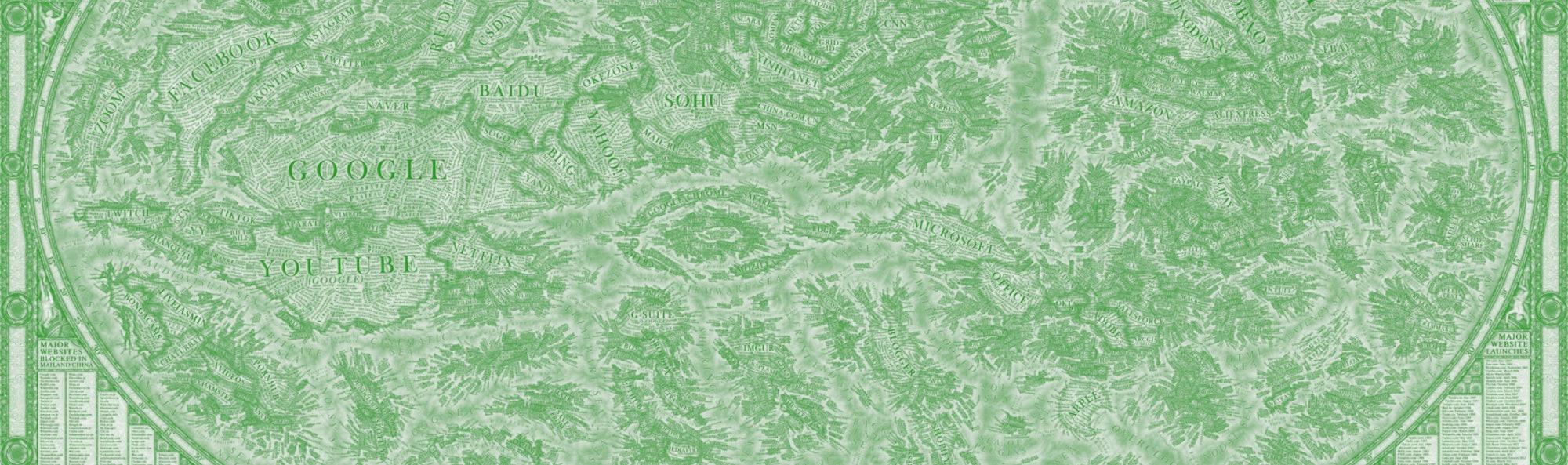 World map of the internet by Martin Vargic. Data visualization. Art. Data viz. Graphic design. Carto...
