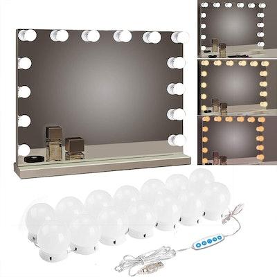 SICCOO Makeup Vanity Lights (14 Bulbs)