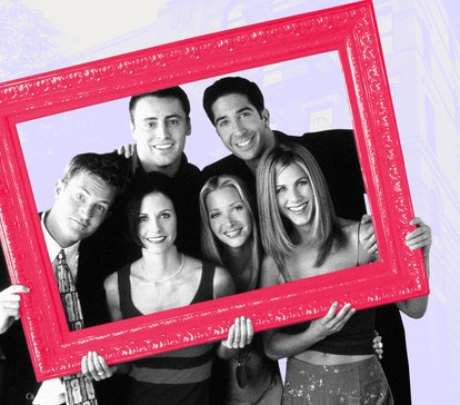 The cast of 'Friends' in a frame to mark the places every fan needs to see when they visit NYC.