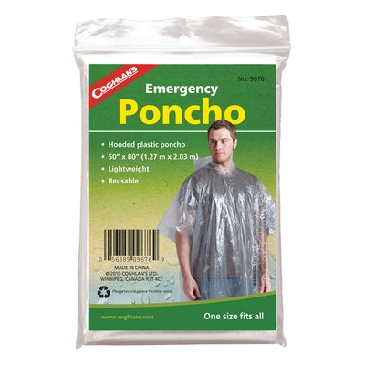 Lightweight Reusable Emergency Poncho