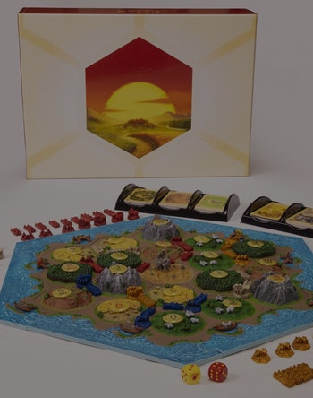 Special edition Catan board game with hand-painted pieces. Gaming. Games. Tabletop games. Settlers of Catan.