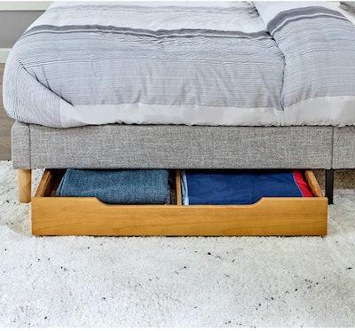 MUSEHOMEINC Solid Wood Under Bed Storage Drawer