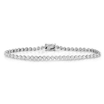 Adorne Collection 1/2 CT. T.W. Diamond Tennis Bracelet in 10K White Gold