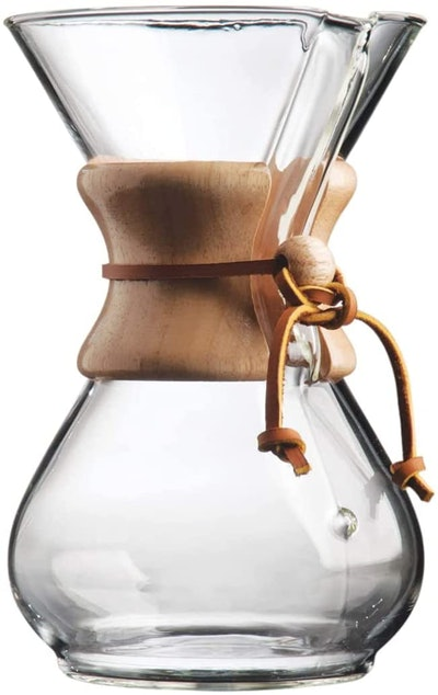 Chemex Pour-Over Glass Coffeemaker (6-Cup)