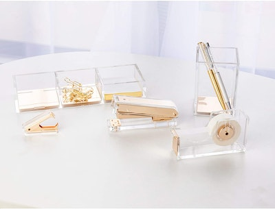 SIRMEDAL Elegant Ultra Clear Acrylic Office Supplies