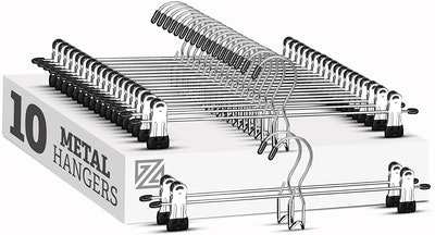 Zober Metal Skirt & Pants Hanger (10-Pack)