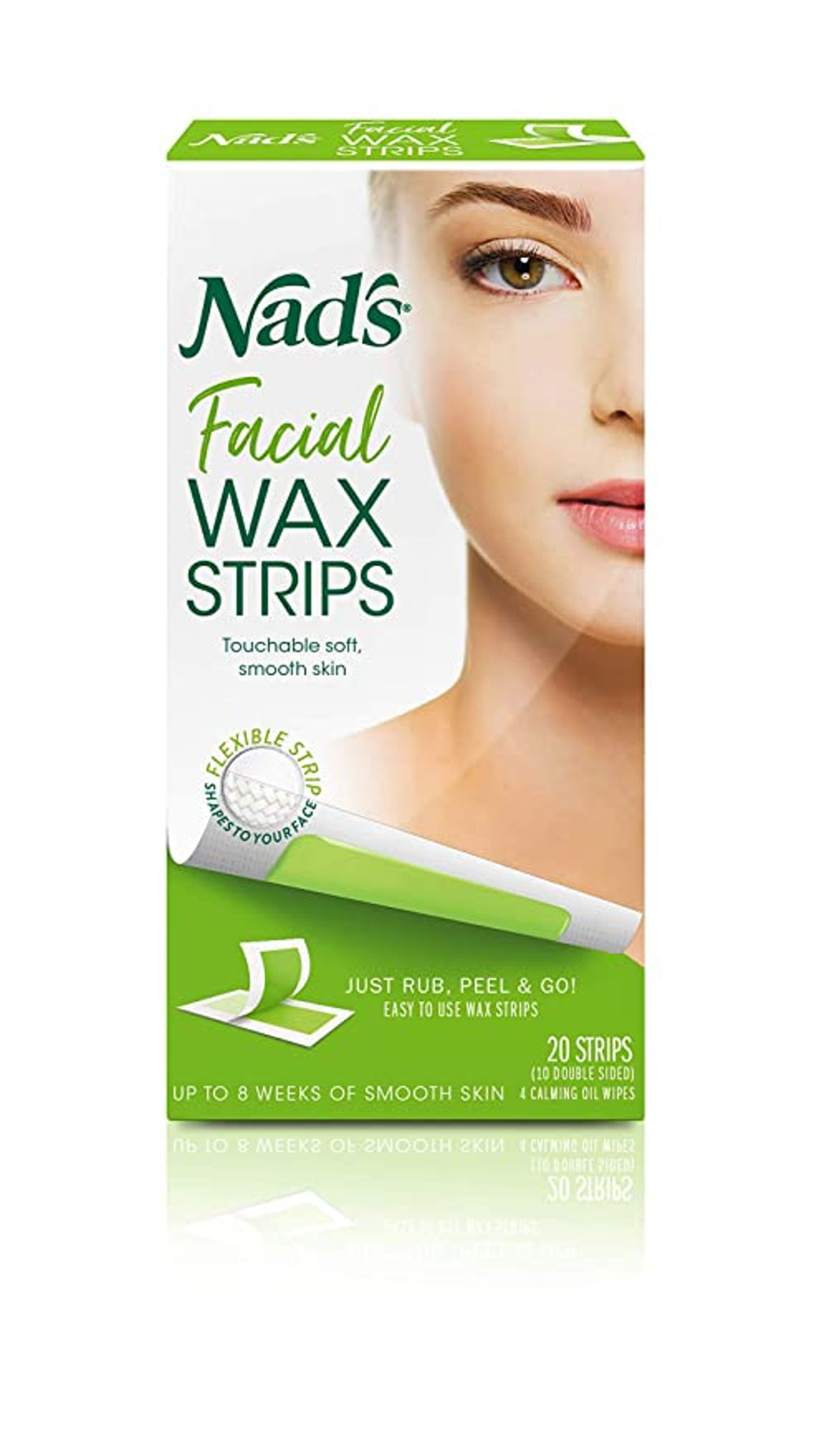 Nad's Facial Wax Strips (20-Count)