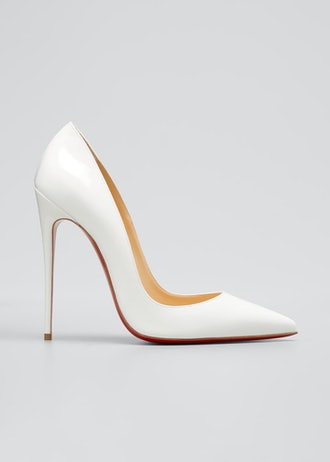Galativi 100mm Mesh & Leather Red Sole Pumps