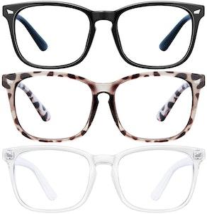 LNEKEI Blue Light Blocking Glasses (3-Pack)