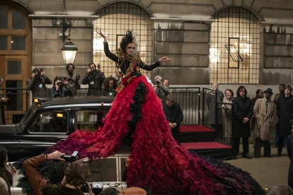 'Cruella' costume designer Jenny Beavan shares the meaning behind the fashion in the film, from Estella's style to The Baroness' wardrobe, and more.