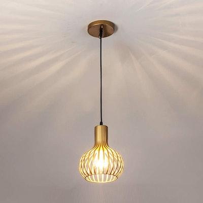 Popilion Antique Brass Metal Ceiling Pendant Light
