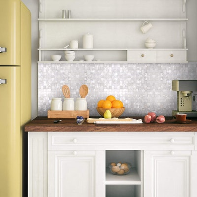 KASARO Peel & Stick Mosaic Shell Backsplash Tile (6-PCS)