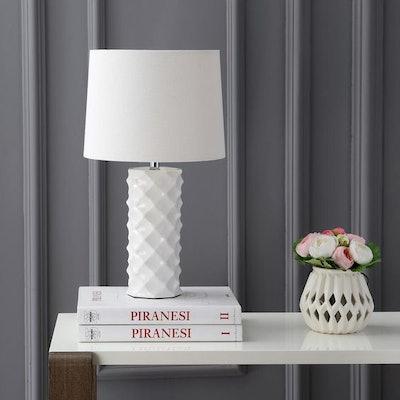 Safavieh Belford Modern 18.5 in. High Table Lamp, White