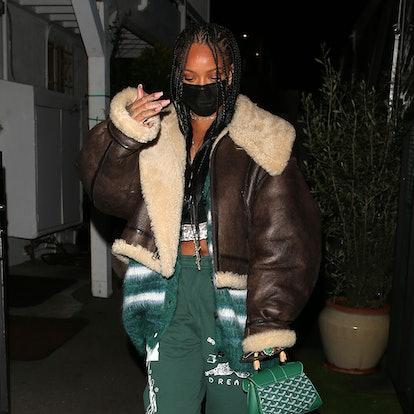 Rihanna is seen at Giorgio Baldi on March 11, 2021 in Los Angeles, California.