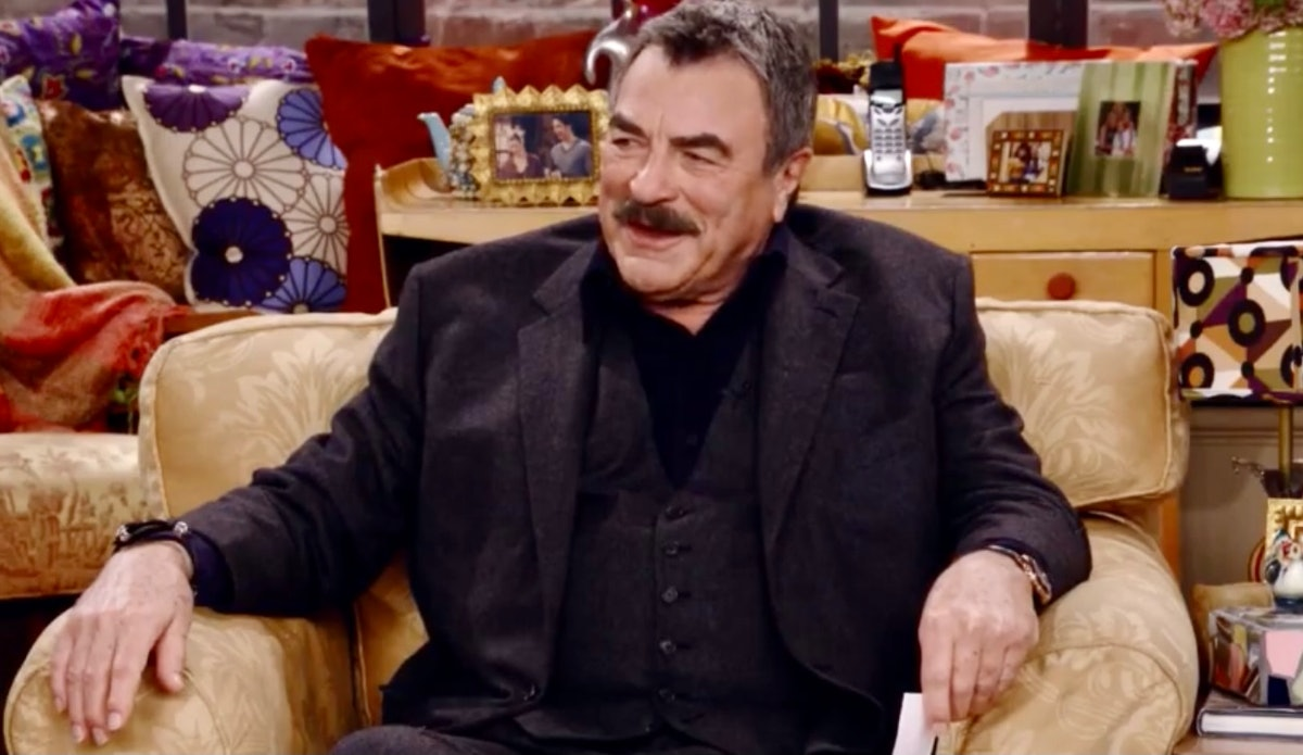 Tom Selleck in 'Friends: The Reunion' via HBO Max's press site