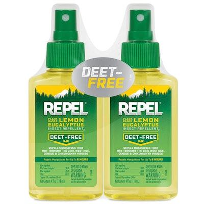 REPEL Plant-Based Lemon Eucalyptus Insect Repellent (2-Pack)