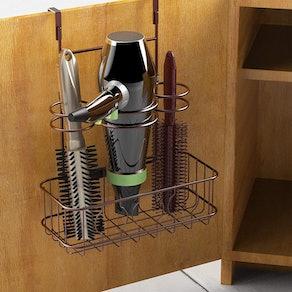 SimpleHouseware Cabinet Door Hair Dryer Mount