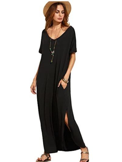 MakeMeChic Maxi Dress With Pockets
