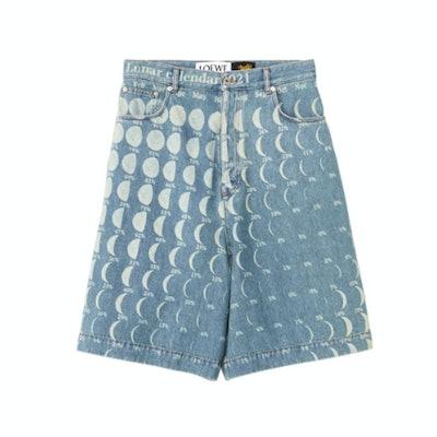 Loewe Blue Paula's Ibiza Denim Moon Calendar Shorts