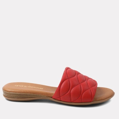 Rylee Featherweight Slide Sandal in Red