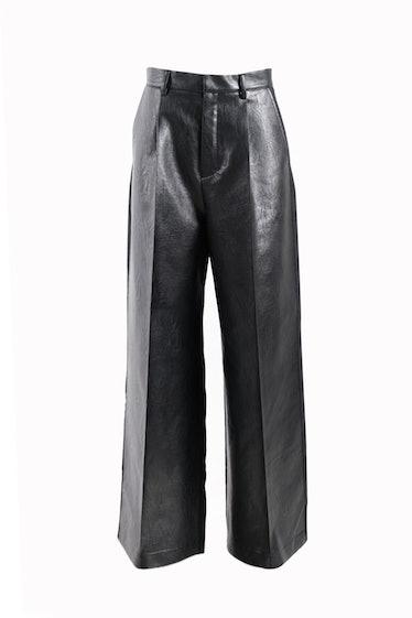 Faye Font Faux Leather Pants