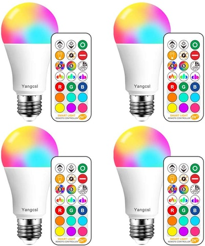 Yangcsl LED Color Changing Light Bulbs