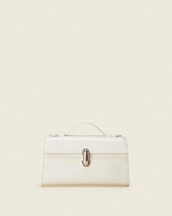 Symmetry Pochette in Ivory Leather