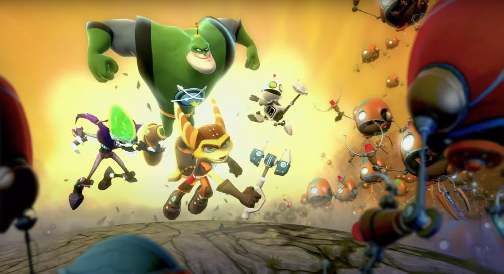 key art from Ratchet & Clank: All 4 One