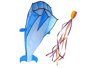 Image 3D Large Blue Dolphin Kite