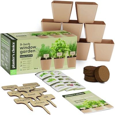 Planters' Choice 9-Herb Window Garden Kit