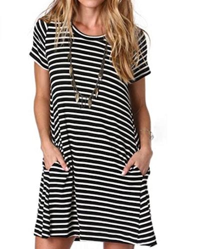 Alaster Striped Shirt Dress