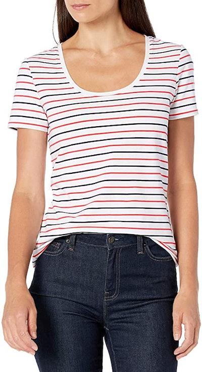 Amazon Essentials Women's Classic Short-Sleeve Scoopneck T-Shirt (2-Pack)