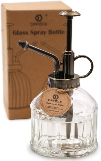 OFFIDIX Transparent Glass Watering Spray Bottle