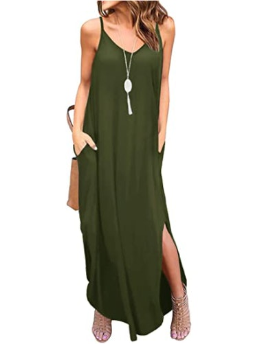 GRECERELLE Maxi Dress With Pockets
