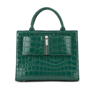 Medium Kuei Green Croc Bag