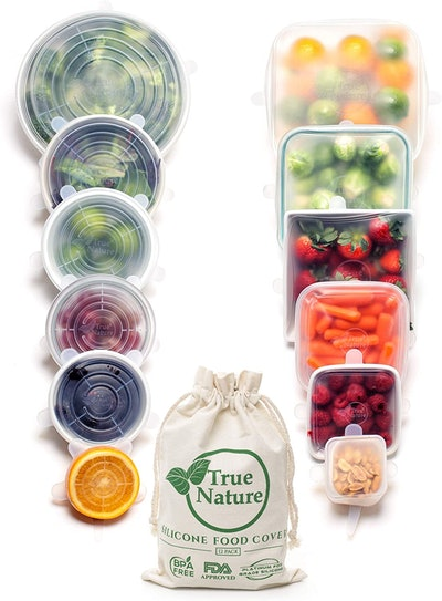 True Nature Silicone Stretch Food Covers (12-Pack)