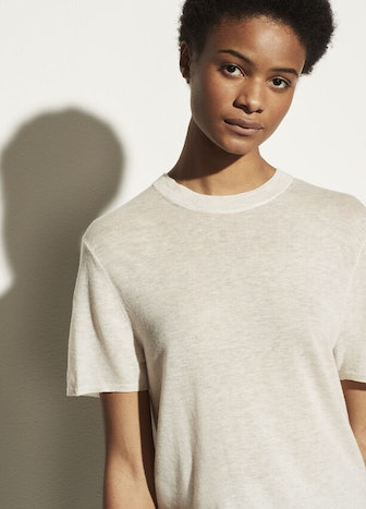 Wool Cashmere Easy Short Sleeve