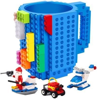 POXIWIN Build-on Brick Mug